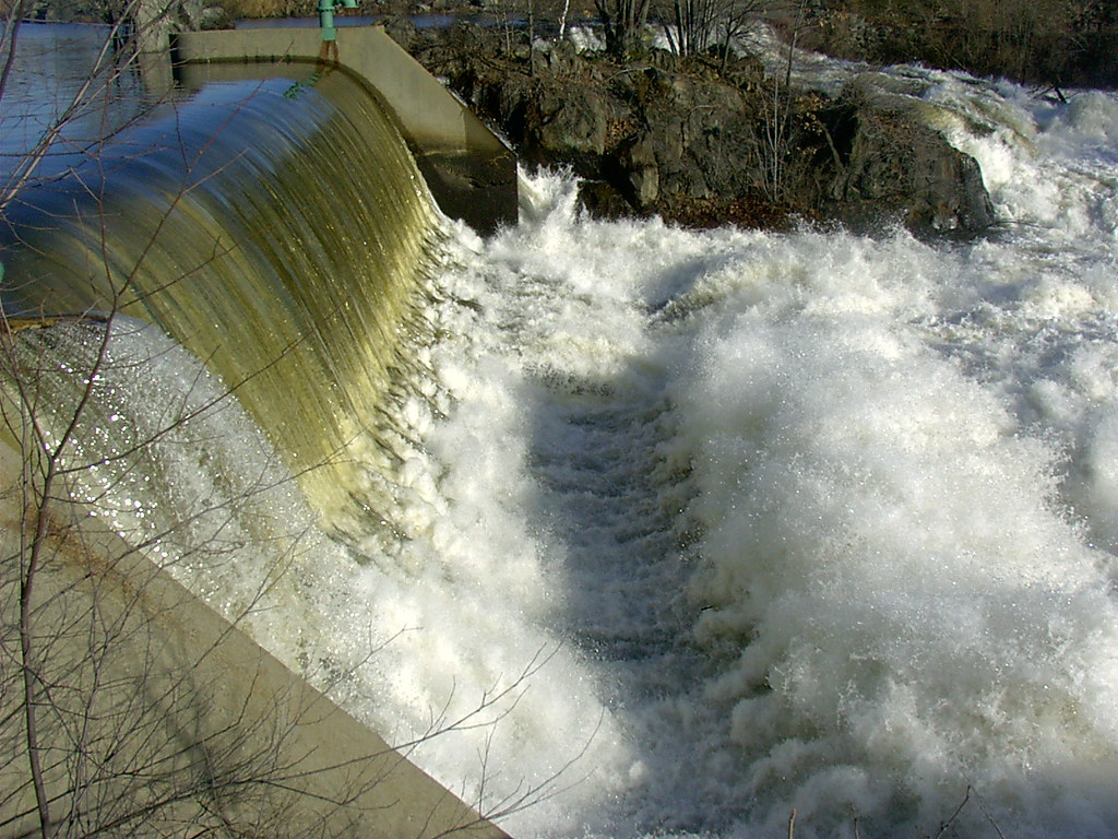 hydroelectric waterfall