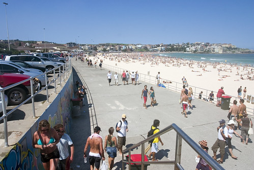 A great view of Bondi Beach, Sydney, Australia.