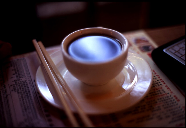a cup of tea in shanghai