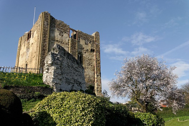 Guildford Castle Keep in Spring