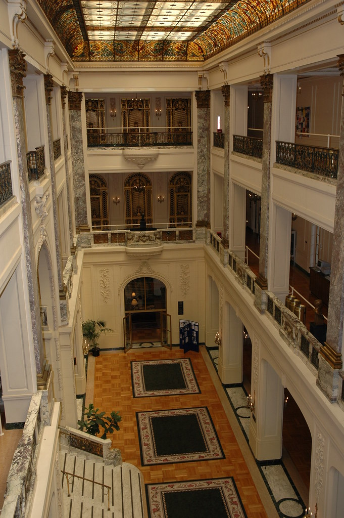 Long Foyer University : Wilson hall at monmouth university a view from the third