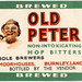 old peters non-intoxicating hop bitters label