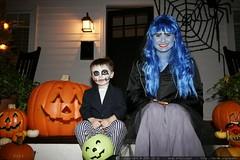 halloween porch   nick and rachel