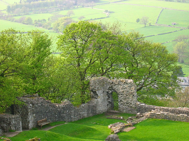 view from top of Peveril Castle