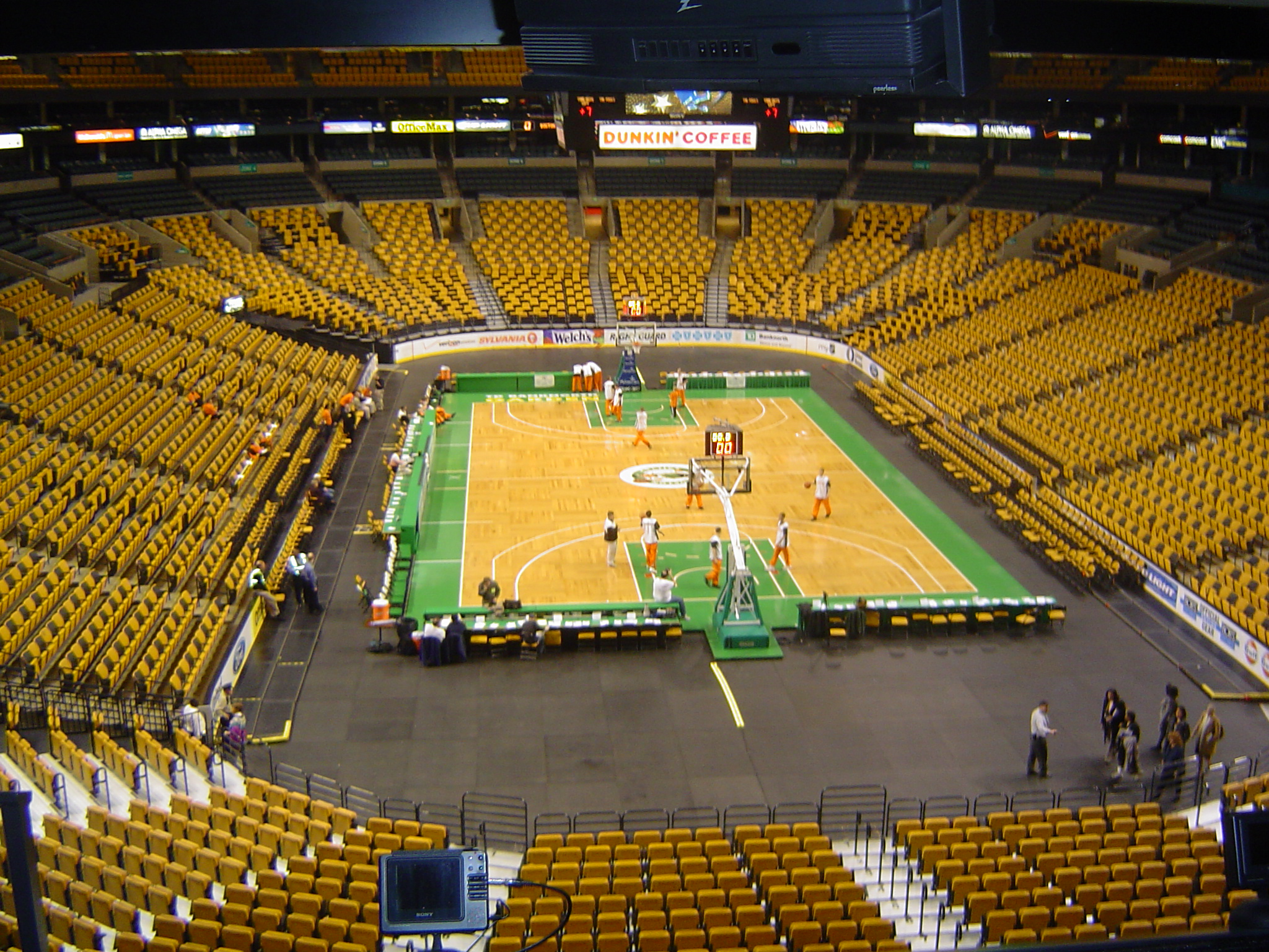 Boston Garden Basketball Court Flickr Photo Sharing