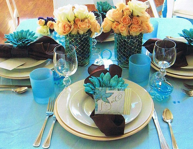 Photo Baby shower table setting