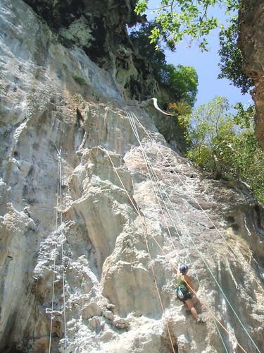 thailand, railay, rock climbing, i-wei DSCF0367