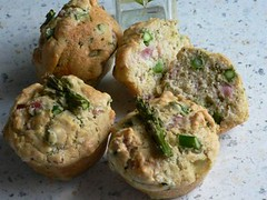 Asparagus Ham Muffins