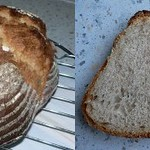 Brot nach Art eines Holzofenbrotes