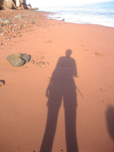me, on the red beach.
