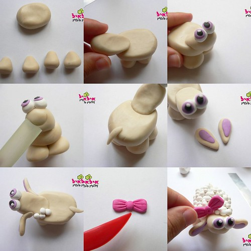 cute fimo sheep tutorial swaps and crafts. Black Bedroom Furniture Sets. Home Design Ideas