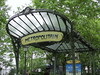 Art Nouveau station entrance, Paris Metro