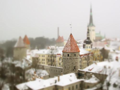 Tilt shift, Tallinn, Estonia