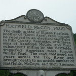 Hatfield-McCoy Feud Historic Sign