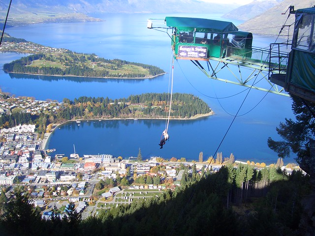 Ledge Bungy, Queenstown, New Zealand by Will Ellis on Flickr.com