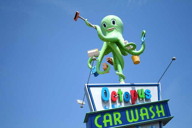 Octopus Car Wash Madison: Octopus Car Wash Sign In Madison, WI