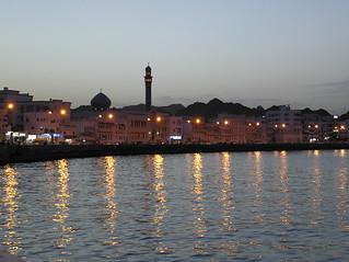 Oman March 2004 - Dusk on the Corniche in Mutrah