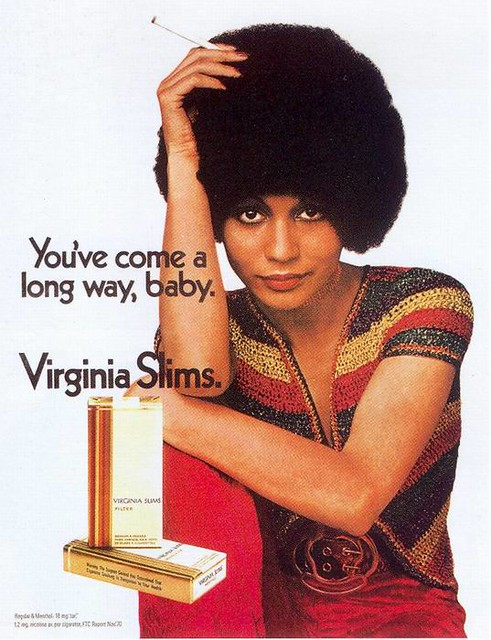 Virginia Slims Cigarettes ad, 1971