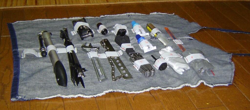 Tool case open / 道具巻き