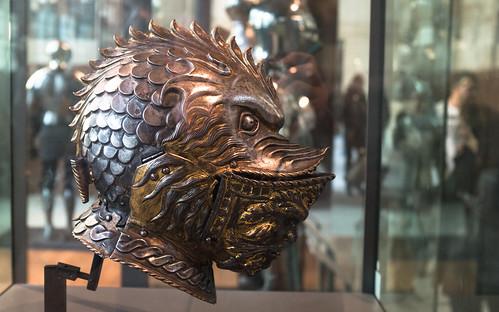 Yelmo de armadura en el Musée de l'Armée
