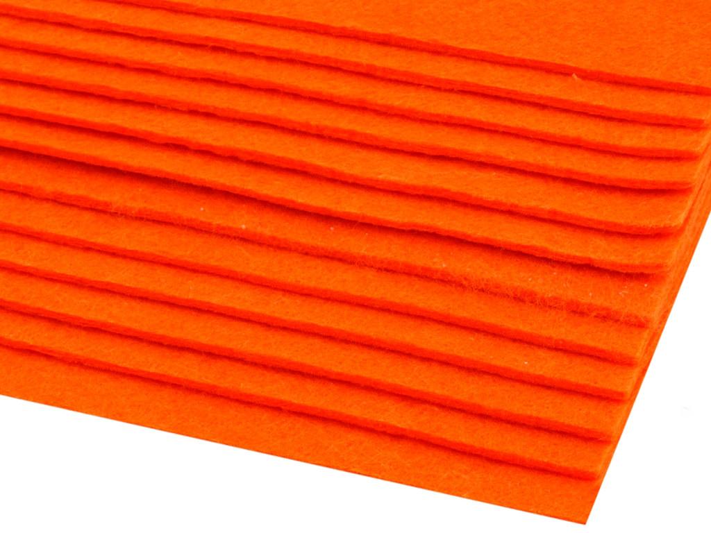 Filz (Stärke 2 - 3mm) orange, VE: 12 Bögen