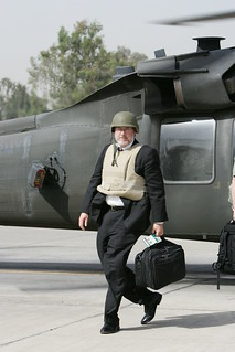 David Addington Arrives in the Green Zone in Baghdad, Iraq