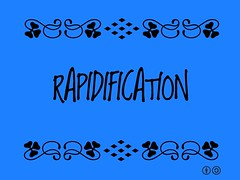 Buzzword Bingo: Rapidification = Continued acceleration of changes affecting humanity and planet coupled with a more intensified pace @Pontifex