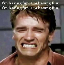 arnie having fun