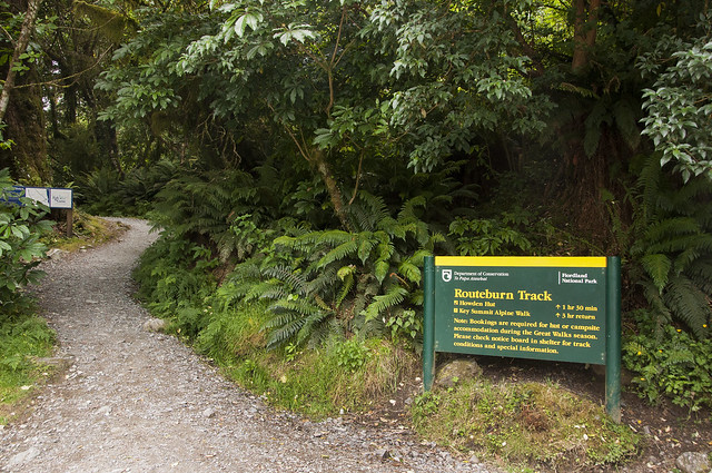 Routeburn Track Start