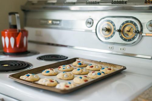 Patriotic cookies.