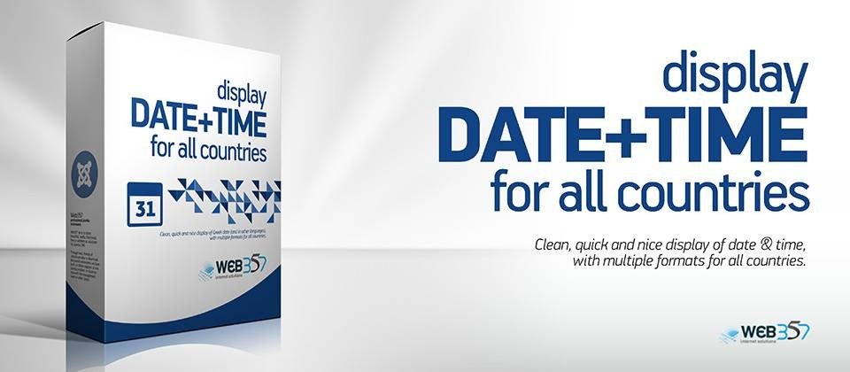 Display Date + Time – insert time and date in Joomla