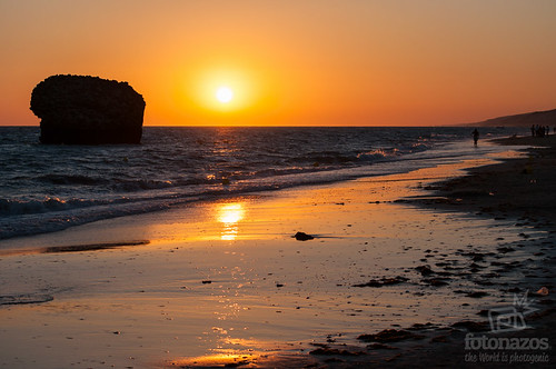Atardecer en la playa de Matalascañas