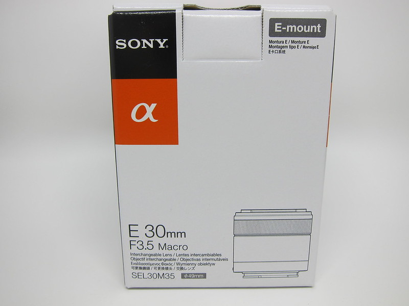 Sony E 30mm F3.5 Macro Lens - Box