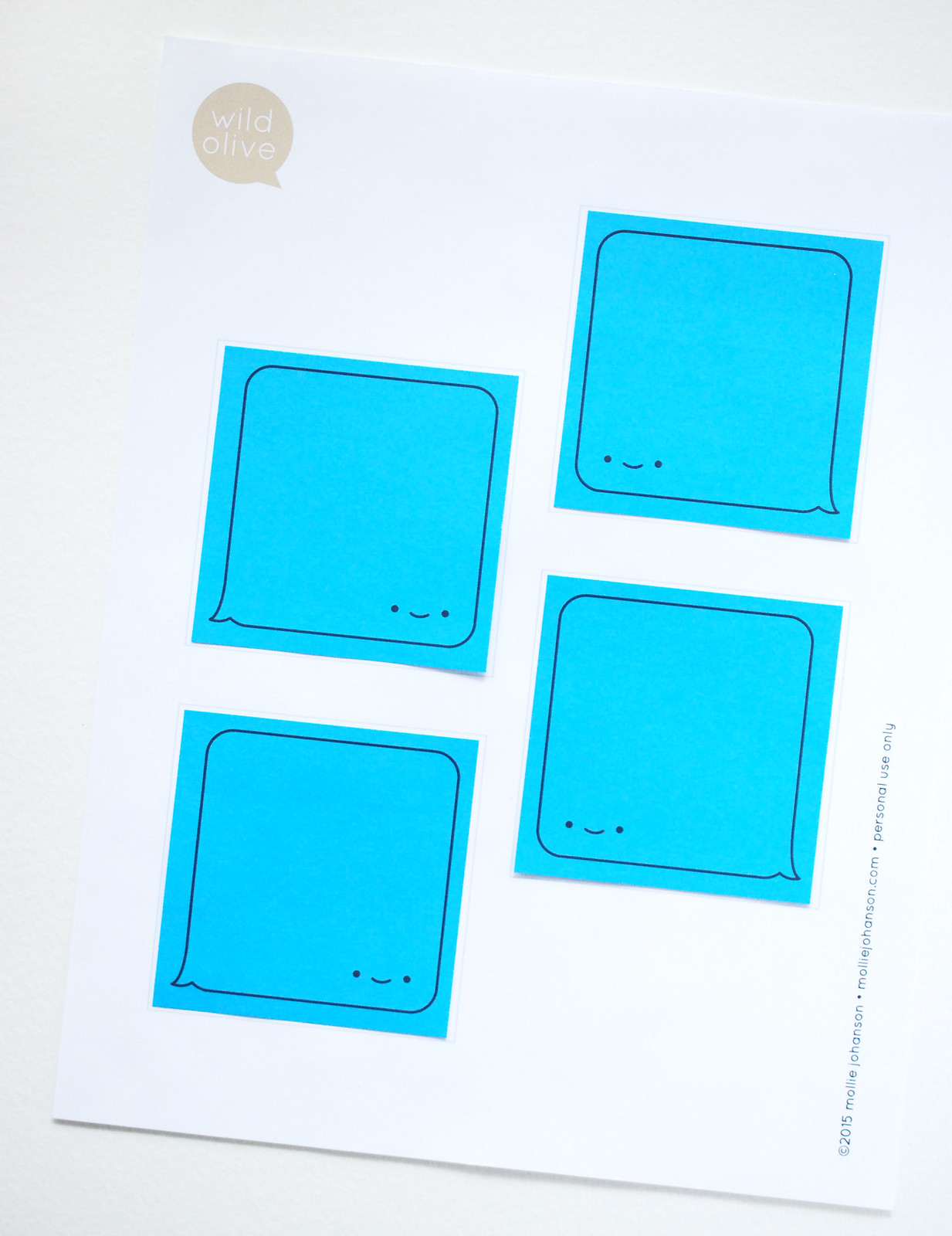 Printable iMessage Sticky Notes