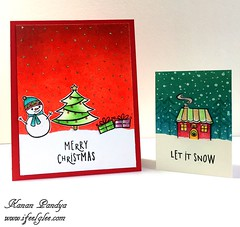 Secret Santa - My card and ATC