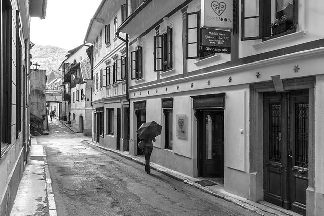 A street in Škofja Loka - Slovenija