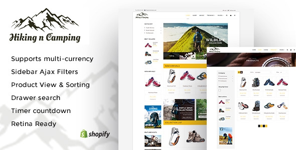 Hiking and Camping v1.0 - An Outdoor Shopping Experience Shopify Theme