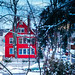 Red House and Snow by Eric Swardstrom