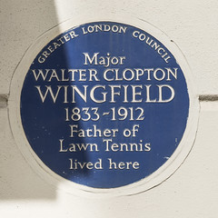Photo of Walter Clopton Wingfield blue plaque