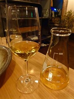 beaker of wine at The Progress in San Francisco