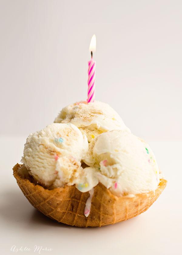 Birthday Cake Batter Sprinkles Ice Cream Ashlee Marie real fun