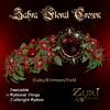 Zahra Floral Crown-Ruby Crimson Gold