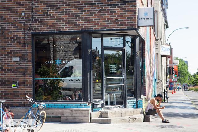 Exterior of Café Névé