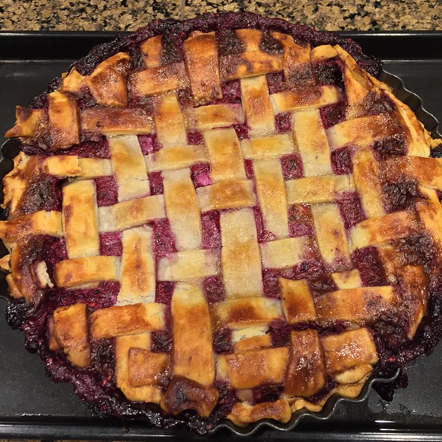 Lattice-Top Blackberry Pie
