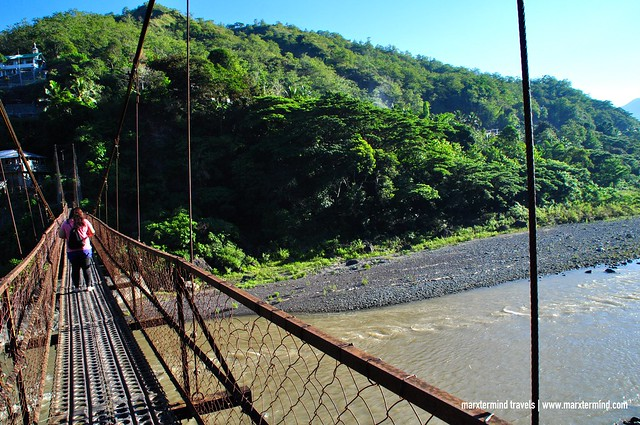 Hanging Steel Bridge Going to Luplupa Village