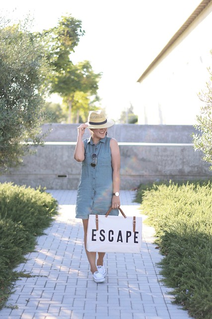 simplyxclassic, urban outfitters bag, blogger, mommy blogger, olive green dress, sleeveless dress, dress with chucks, panama hat, fashion blogger, style, mom style, orange county