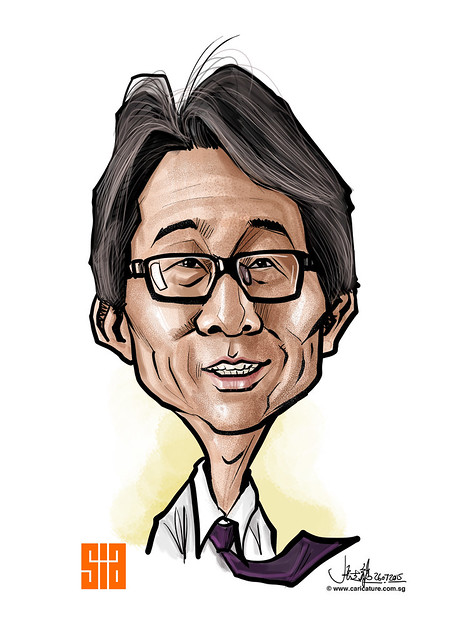 Lim Swee Say Digital caricature for Singapore Institute of Architects - 4