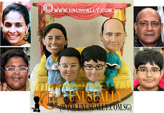 Custom 3D Sweet Lovely Family Of 4 Figurines - © www.unusually.com.sg