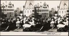 Outdoor dining on the marketplaats, Belgian village