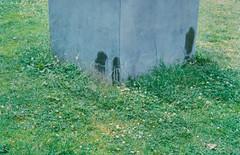 defaced statue of Achille Liénart